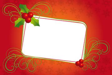 banner di Natale con spazio per messaggio e vischio