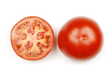 Tomate innen und außen