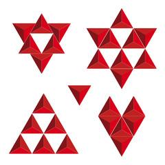 Vector symbols created triangles