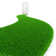 3d fresh green grass road