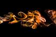 Fond texture abstrait flamme fumée