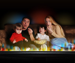 Entertainment Family Watching TV