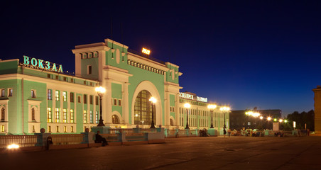 railway station at Novosibirsk