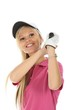 Lovely Blond Golf Woman