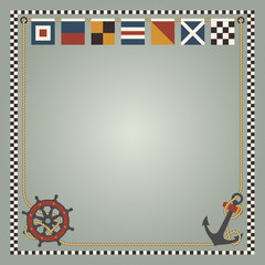 Nautical flags and elements