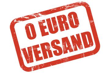 Grunge Stempel rot 0 EURO VERSAND