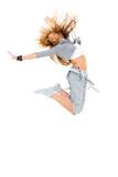 Fototapety Tänzerin mit Hosenträger