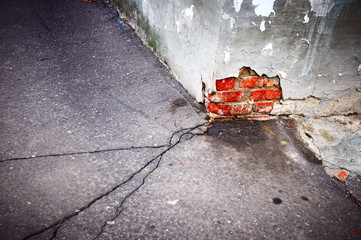 crack in asphalt horizontal