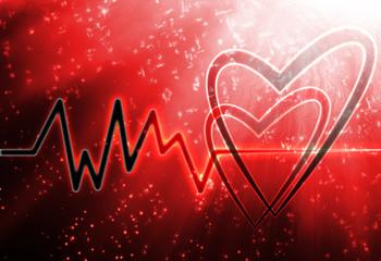 abstract heart monito