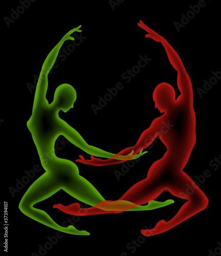 coppia verde rosso