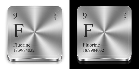 Fluorine, two metal web buttons
