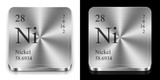 Nickel, two metal web buttons