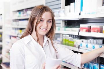 Pharmacist Working in Pharmacy Drugstore