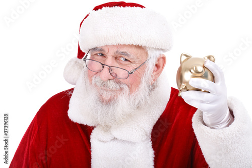 Santa with Piggy Bank