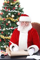 Santa writing list gifts
