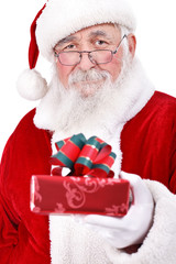 Santa Claus giving gift
