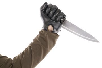 black gloved
