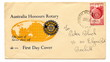 "Australian first day cover ""Australia honours Rotary"""