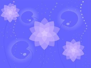 Фон из водяных лилий