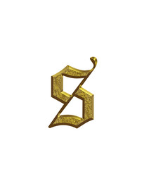 s - Alphabet en or - Lettrine