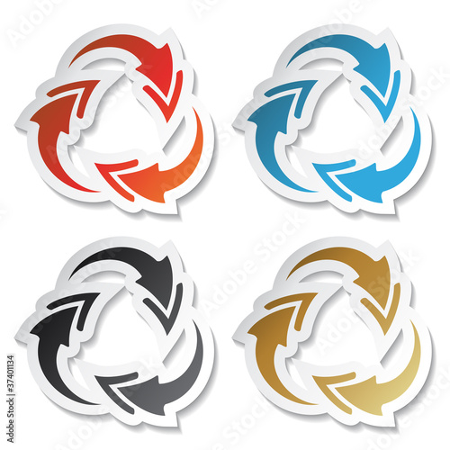 Vector arrow stickers