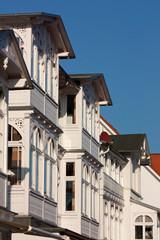 Historische Bäderarchitektur im Ostseebad Binz auf Rügen