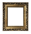 isolated antique golden frame