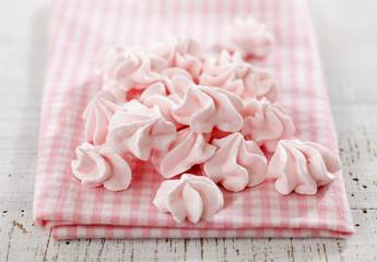 pink meringue cookies