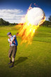 Burning Golf Ball