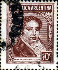 Bernardino Rivadavia. Republica Argentina.
