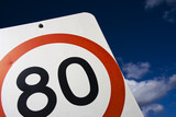 80 Kilometre Road Speed Sign