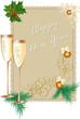 Bicchieri con spumante - Cartolina Auguri