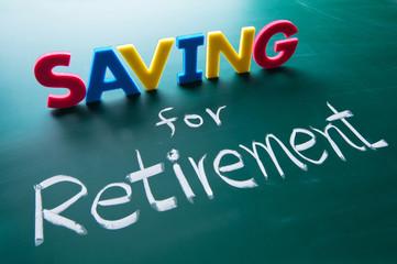 Saving for retirement concept
