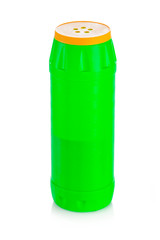 House cleaning supplies. Plastic bottle with detergent