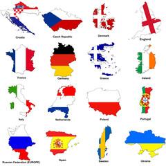 euro 2012 european championship flag maps