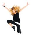 Fototapety Coole Tänzerin in schwarz