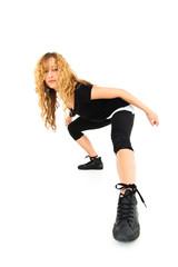 Coole Tänzerin in schwarz