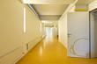 modern public school, corridor yellow floor