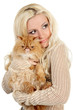 Beautiful young woman with Persian cat