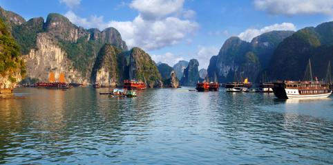 navigation sur la baie d'halong