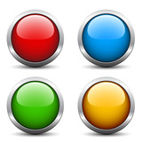 Fototapety Vector glossy buttons