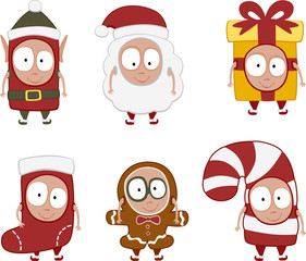 christmas kids set 1 - vector