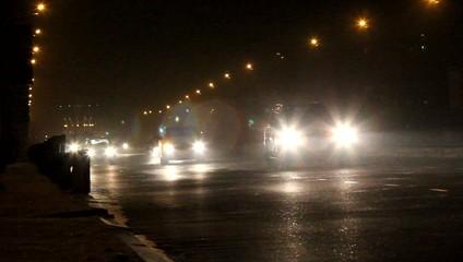Движение на ночной дороге