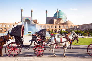 Carriage on Naqsh-i Jahan Square, Isfahan, Iran