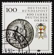 Postage stamp Germany 1990 Teutonic order heraldic emblem