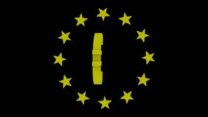 EU Sterne die sich drehen