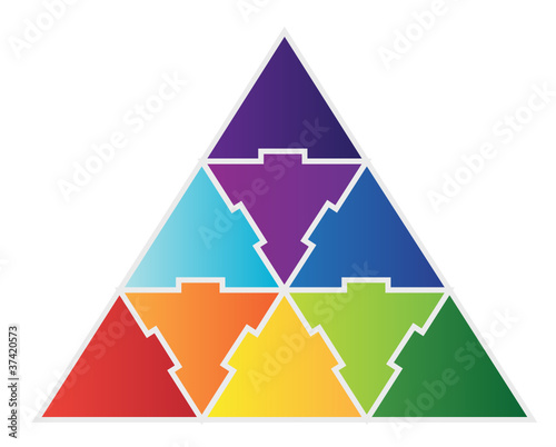 9 Piece Triangle Puzzle