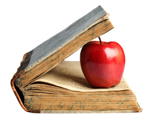 .book & red apple