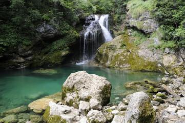 Wasserfall in der Vintgar-Schlucht