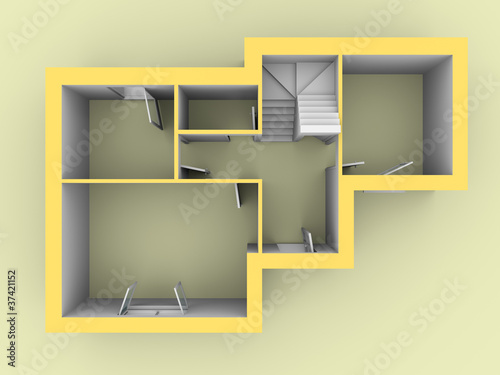 3d model of a house